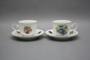 Tea cup 0,18l with saucer Ofelia Fruits ZL