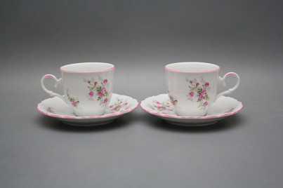 Coffee cup 0,18l and saucer Ofelia Pink roses RL č.1