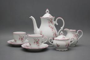 Coffee set Ofelia Pink roses 15-piece RL