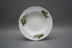 Deep plate 23cm Ofelia Lillies of Valley CZL