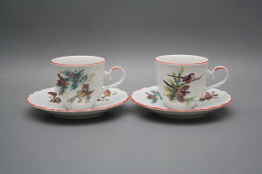 Coffee cup 0,18l and saucer Ofelia Birds CL