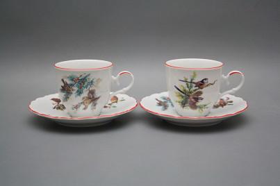 Coffee cup 0,18l and saucer Ofelia Birds CL č.1
