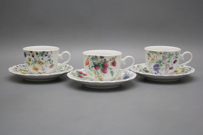 Tea cup 0,18l with saucer Ofelia Flowering meadow BB