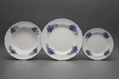 Plate set Ofelia Forget-me-not 24-piece EAL č.1