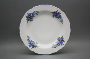 Flat round dish 31cm Verona Forget-me-not EAL