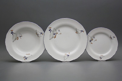 Plate set Ofelia Geese 18-piece CML č.1