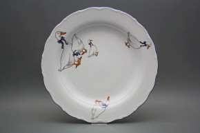 Flat round dish 31cm Verona Geese CML