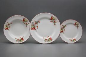 Plate set Ofelia Strawberries 18-piece CCL