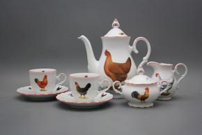 Coffee set Ofelia Hens 15-piece CL