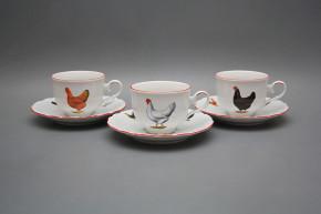 Tea cup 0,18l with saucer Ofelia Hens CL