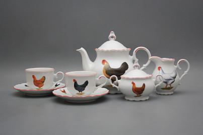Tea set Ofelia Hens 15-piece CL č.1