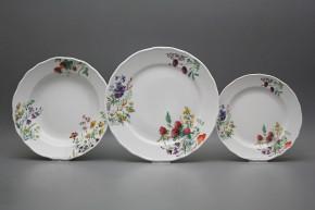 Plate set Rokoko Flowering meadow 12-piece CBB