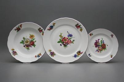 Plate set Rokoko Bouquet 12-piece GFL č.1