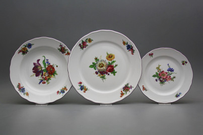 Plate set Rokoko Bouquet 18-piece GFL č.1