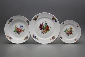 Plate set Rokoko Bouquet 24-piece GFL