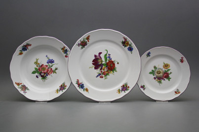 Plate set Rokoko Bouquet 24-piece GFL č.1