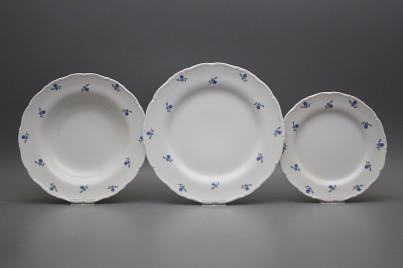 Plate set Ofelia Forget-me-not Sprays 24-piece ABB č.1