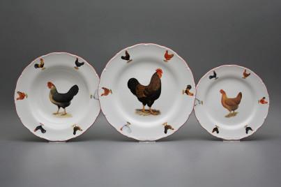 Plate set Ofelia Hens 18-piece FCL č.1