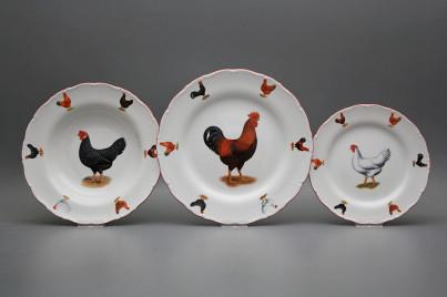 Plate set Ofelia Hens 24-piece FCL č.1