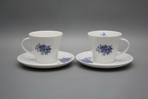 Cup high 0,2l with saucer Tom Forget-me-not BB