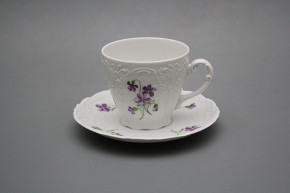 Coffee cup 0,15l and saucer Opera Violets BB