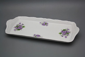 Tray square 38cm Marie Louise Violets EBB
