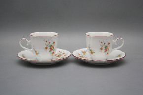 Coffee cup 0,18l and saucer Ofelia Tea roses HL