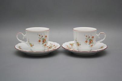 Coffee cup 0,18l and saucer Ofelia Tea roses HL č.1
