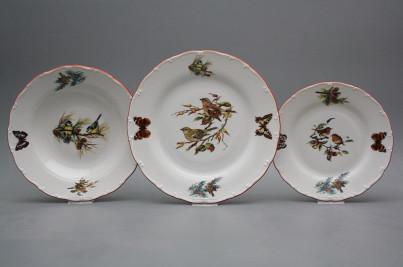 Plate set Ofelia Birds 18-piece GCL č.1