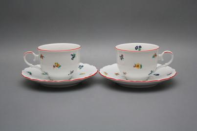 Tea cup 0,18l with saucer Ofelia Sprays CL č.1