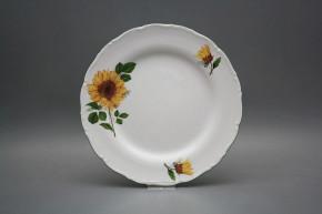 Flat plate 25cm Ofelia Sunflowers CZL