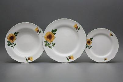 Plate set Ofelia Sunflowers 18-piece CZL č.1