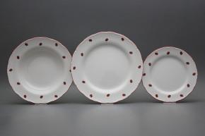 Plate set Ofelia Ladybirds 12-piece ACL