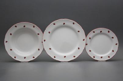 Plate set Ofelia Ladybirds 12-piece ACL č.1