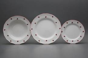 Plate set Ofelia Ladybirds 18-piece ACL