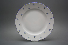 Flat round dish 31cm Verona Forget-me-not Sprays AAL