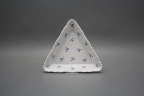 Dish triangular 20cm Verona Forget-me-not Sprays BBB