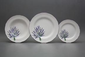 Plate set Ofelia Lavender 18-piece HFL
