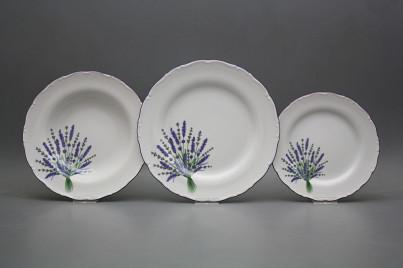 Plate set Ofelia Lavender 24-piece HFL č.1