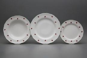 Plate set Ofelia Ladybirds 24-piece AZL