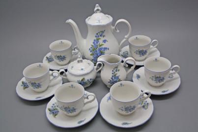 Coffee set Ofelia Forget-me-not 15-piece AL č.1