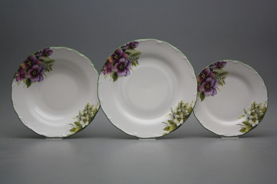 Plate set Ofelia Pansy 18-piece DZL č.1