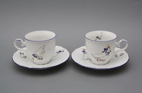 Coffee cup 0,18l and saucer Ofelia Geese ML