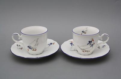 Coffee cup 0,18l and saucer Ofelia Geese ML č.1