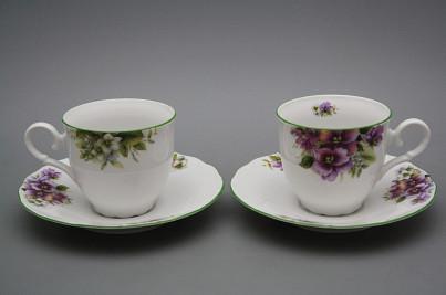 Coffee cup 0,18l and saucer Ofelia Pansy ZL č.1