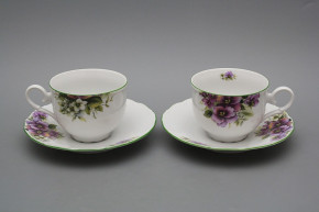 Tea cup 0,18l with saucer Ofelia Pansy ZL