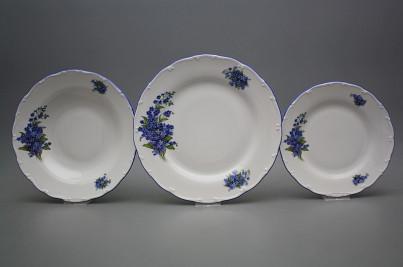 Plate set Ofelia Forget-me-not 36-piece CAL č.1