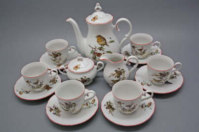 Coffee set Ofelia Birds 15-piece CL č.1