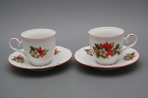 Coffee cup 0,18l and saucer Ofelia Poinsettia CL
