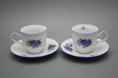 Coffee cup 0,18l and saucer Ofelia Forget-me-not AL č.1